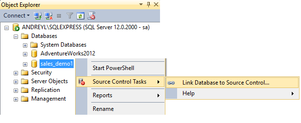 SQL SERVER - Dedicated Database Development with SQL Source Control link_db_to_sc