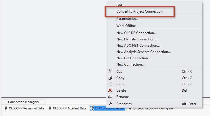 SQL SERVER - Using Project Connections in SSIS - Notes from the Field #088 n-88-3