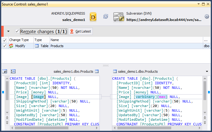 SQL SERVER - Dedicated Database Development with SQL Source Control remote_changes