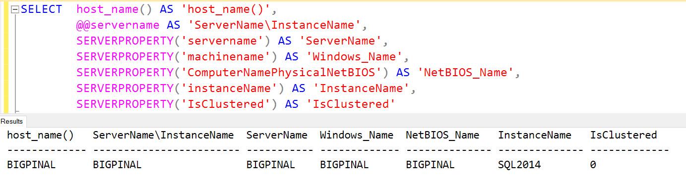 SQL SERVER - How to Change Server Name? ren-sql-01