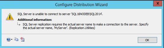 SQL SERVER - FIX - Replication Error: SQL Server replication requires the actual server name to make a connection to the server repl-error-02