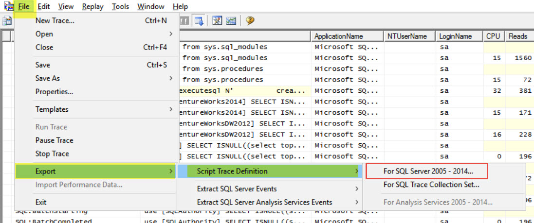 SQL SERVER - Server Side and Client Side Trace server-trace-02