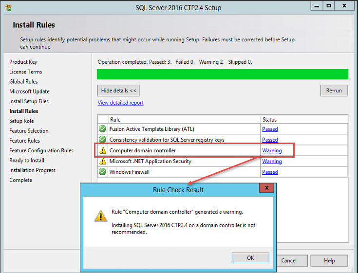 SQL SERVER - Installation Failed With Error - Wait on the Database Engine Recovery Handle Failed setup-dc-01