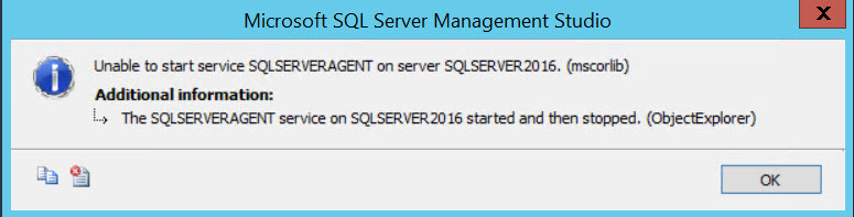 SQL SERVER - Unable to start SQL Server Agent - Failed to Initialize SQL Agent log sqlagent-01