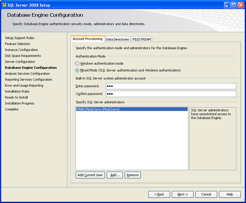 SQL SERVER - 2008 - Step By Step Installation Guide With Images 200816