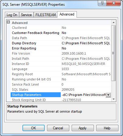 SQL SERVER - Denali - Improvement in Startup Options 2008startup