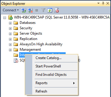SQL SERVER - Creating the SSIS Catalog - Notes from the Field #058 58-2