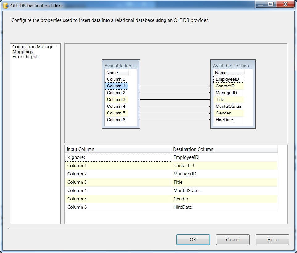 SQL SERVER - Import CSV File into Database Table Using SSIS import15