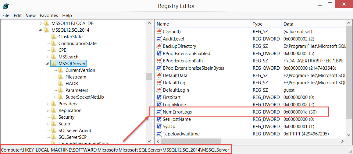 SQL SERVER - How to Increase Number of Errorlog Files ErrLog-03