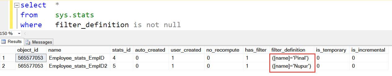 SQL SERVER - What is Filtered Statistics? FilterStats-05