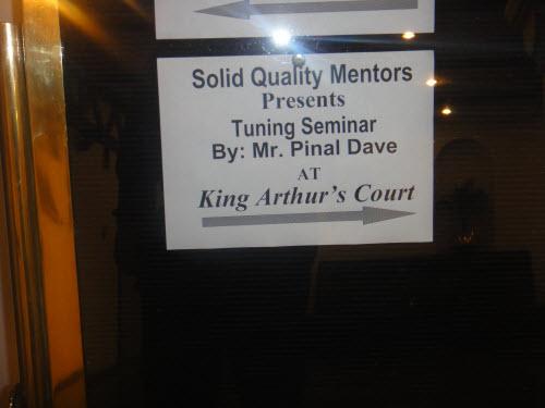 SQL SERVER - A Successful Performance Tuning Seminar - Hyderabad - Nov 27-28, 2010 - Next Pune HydSeminar (3)