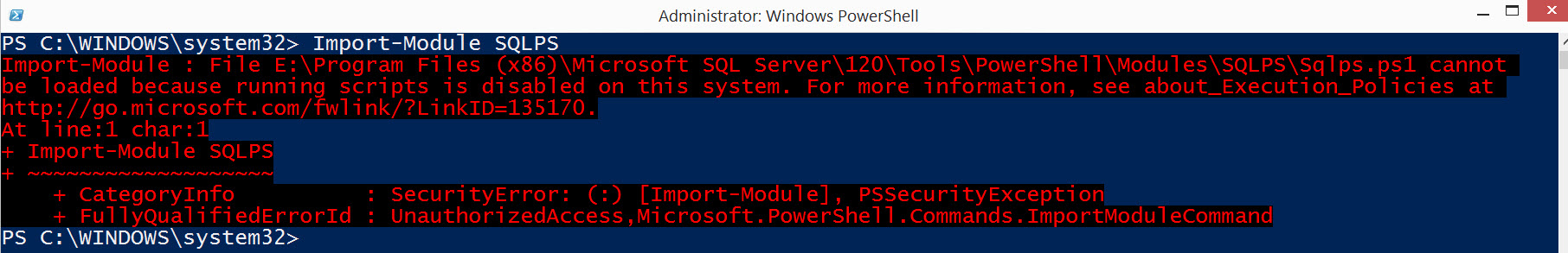 SQL SERVER - FIX - The term 'Invoke-Sqlcmd' is not recognized as the name of a cmdlet Invoke-SQLCMD-02