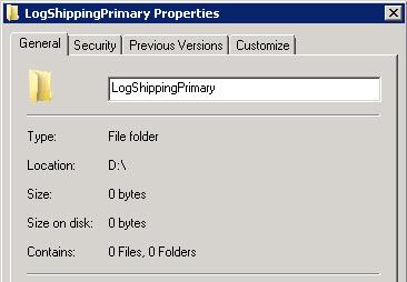 SQL SERVER - Log Shipping - Sharing Tab Missing in Folder Properties LS-ShareTab-01