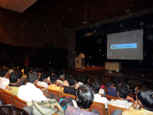 SQL SERVER - Visiting Alma Mater - Delivering Session on Database Performance and Career - Nirma Institute of Technology Nirma (7)