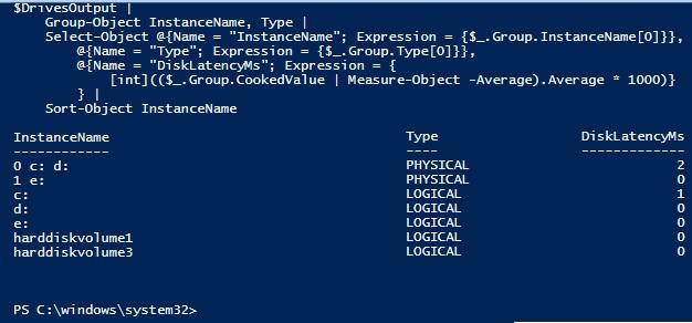 SQL SERVER - Identify Disk Latency on SQL Server Box Using PowerShell PowerShell-DiskLatency-01