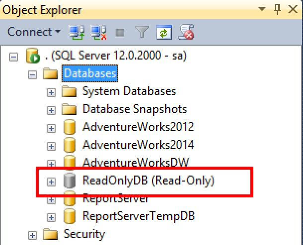 SQL SERVER - ReadOnly Databases with ReadOnly File Attribute ReadOnly-file-01