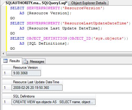 SQL SERVER - mssqlsystemresource - Resource Database ResourceDatabase