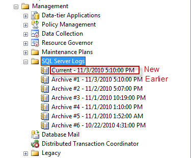 SQL SERVER - Recycle Error Log - Create New Log file without Server Restart SP_CYCLE_ERRORLOG2