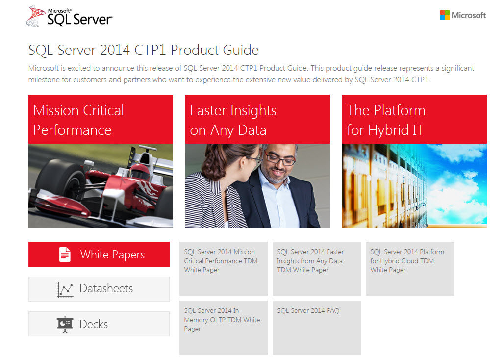 SQL SERVER - Microsoft SQL Server 2014 CTP1 Product Guide SQL-Server-2014-CTP1-Product-Guide