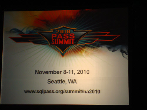 SQLAuthority News - Notes of Excellent Experience at SQL PASS 2009 Summit, Seattle SQLPASS507