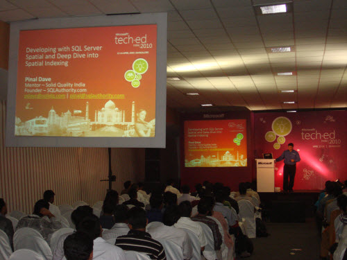 SQLAuthority News - TechEd India - April 12-14, 2010 Bangalore - An Unforgettable Experience TechEdIndia%20%2816%29