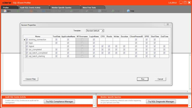 SQL SERVER - Idera SQL XEvent Profiler - a Free Tool for XEvent Monitoring XEvent-Profiler-Template