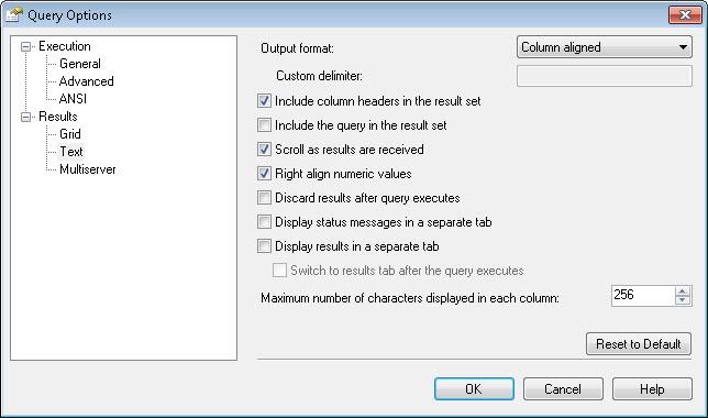 SQL SERVER - Right Aligning Numerics in SQL Server Management Studio (SSMS) aligncol2