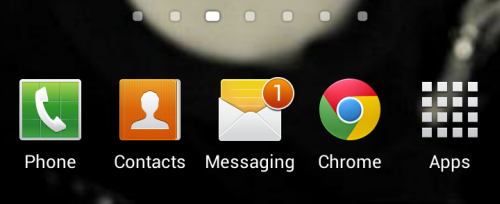 SQLAuthority News - Reset Messaging (SMS/Text) Icon Count in Android Jelly Bean android (1)