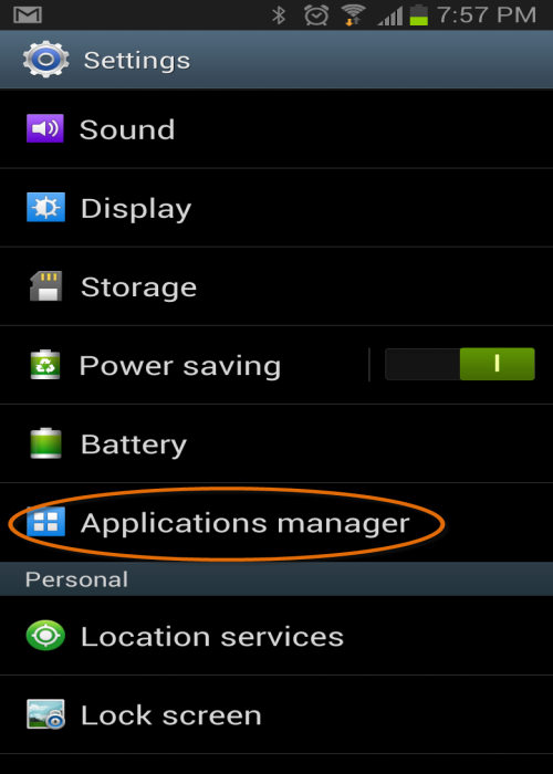 SQLAuthority News - Reset Messaging (SMS/Text) Icon Count in Android Jelly Bean android (4)