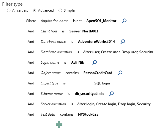 SQL SERVER - Security Auditing With ApexSQL Audit apexaudit-04