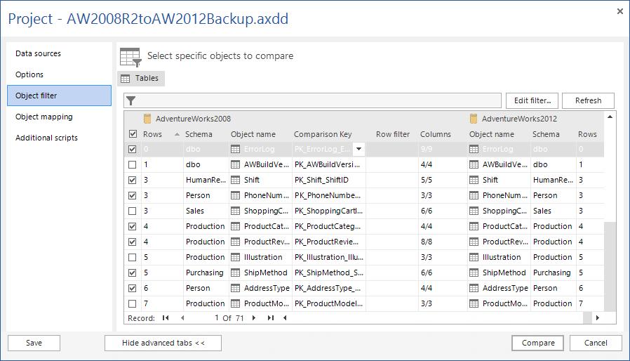 SQL SERVER - SQL Server Data Compare Tool 3