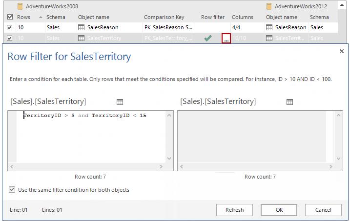 SQL SERVER - SQL Server Data Compare Tool 7