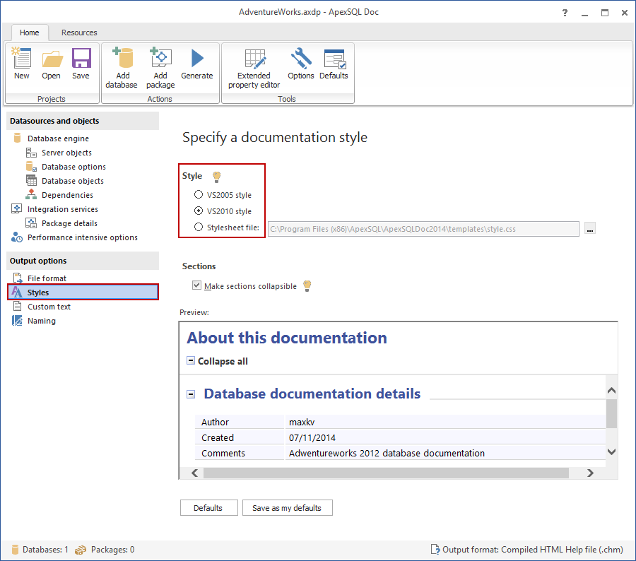 SQL SERVER – Documentation Tool image010