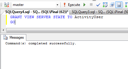 SQL SERVER - Fix : Error : Msg 4621, Level 16, State 10 : Permissions at the server scope can only be granted when the current database is master av2