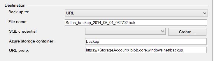 SQL SERVER - Backup to Azure Blob using SQL Server 2014 Management Studio azurebackups2