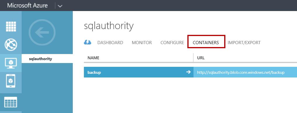 SQL SERVER - Backup to Azure Blob using SQL Server 2014 Management Studio azurebackups4
