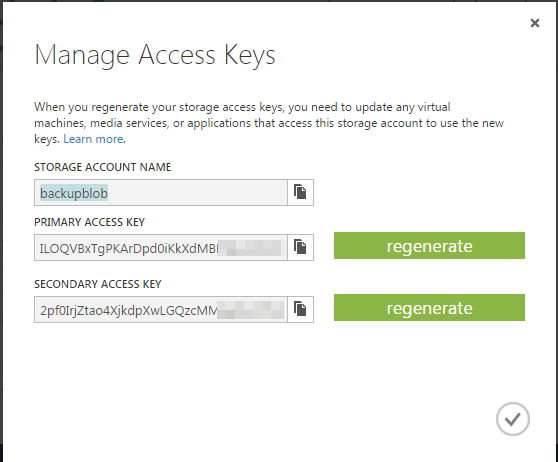 SQL SERVER - Connecting to Azure Storage with SSMS azureconnect4