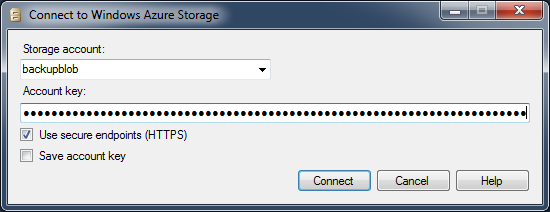 SQL SERVER - Connecting to Azure Storage with SSMS azureconnect5