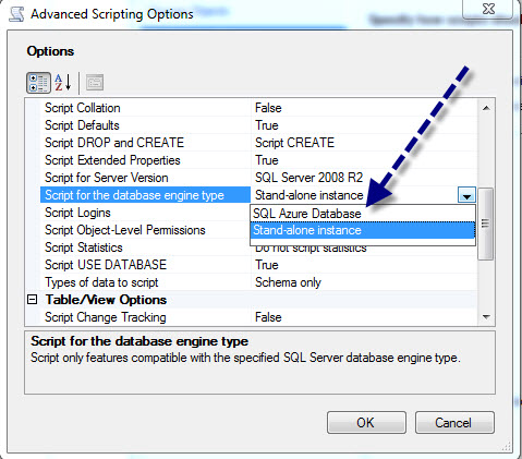 SQL SERVER - Generate Database Script for SQL Azure azurescript4
