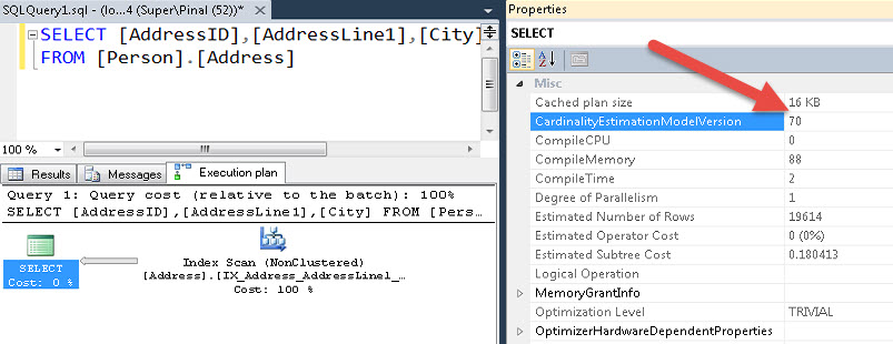 SQL SERVER - How to Know Cardinality of Executed Query? cardinalityesti