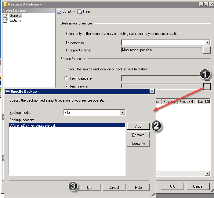 SQL SERVER - Restore Error: Specified cast is not valid (SqlManagerUI) cast-error-01