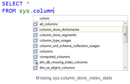 SQL SERVER - Columnstore Index and sys.dm_db_index_usage_stats columndmv