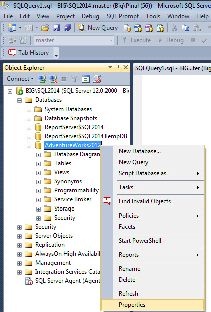 SQL SERVER - How to Change Compatibility of Database to SQL Server 2014 comp120-1