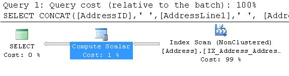 SQL SERVER 2012 - String Function CONCAT() - A Quick Introduction concat4