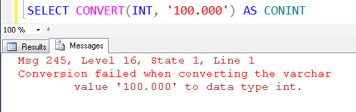 SQL SERVER - Denali - Conversion Function - Difference between PARSE(), TRY_PARSE(), TRY_CONVERT() conint