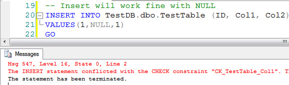 SQL SERVER - Prevent Constraint to Allow NULL  constraint1
