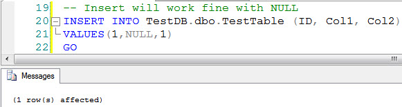 SQL SERVER - Prevent Constraint to Allow NULL  constraint2