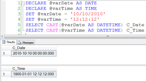 SQL SERVER - DATE and TIME in SQL Server 2008 convertdatetime