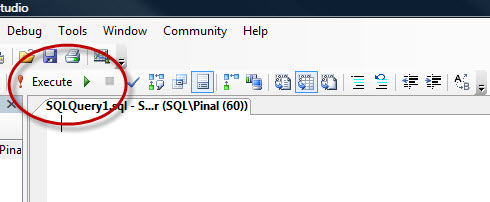 SQL SERVER - 2008 - Customize Toolbar - Remove Debug Button from Toolbar cust1