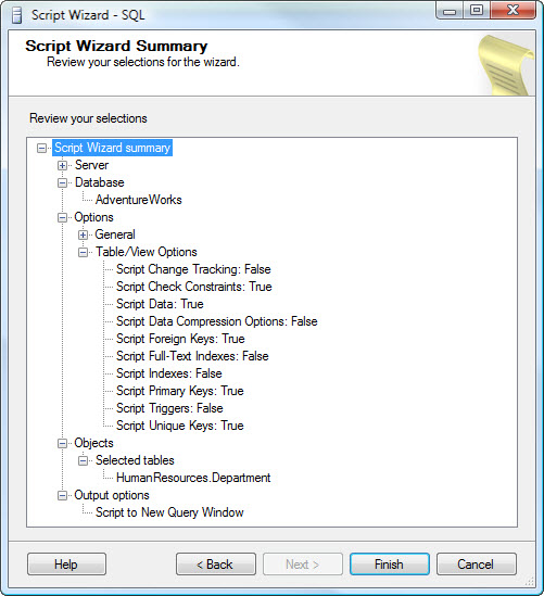 SQL SERVER - 2008 - Copy Database With Data - Generate T-SQL For Inserting Data From One Table to Another Table data8
